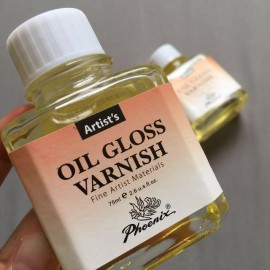 Glossy varnish for oil and acrylic paintings