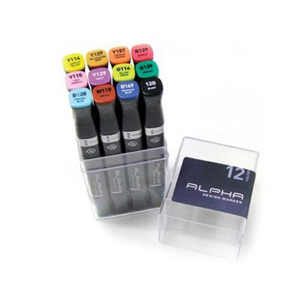 MONTANA Alpha Design Twin Markers 12-piece Colour
